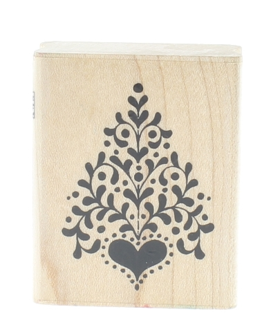 Fun Stamps Folk Tree with a Heart 1989 Sampendous Wooden Rubber Stamp