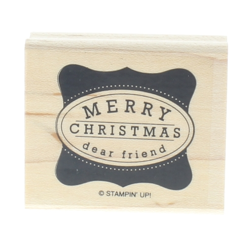 Merry Christmas Dear Friend Stampin Up Wooden Rubber Stamp
