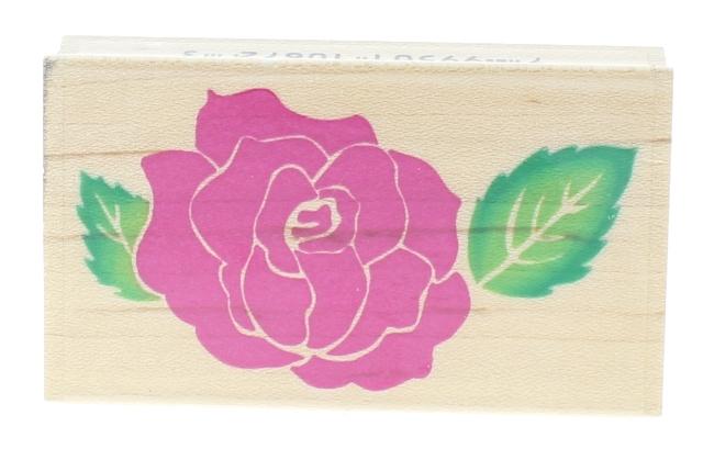 Embossing Arts 1995 Rose/Bold 1087-E Rose Flower Wooden Rubber Stamp