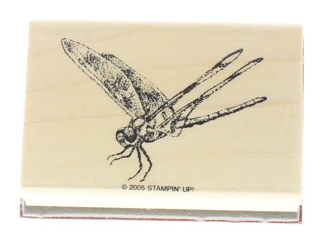 Stampin Up 2005 Dragonfly Creature Wooden Rubber Stamp