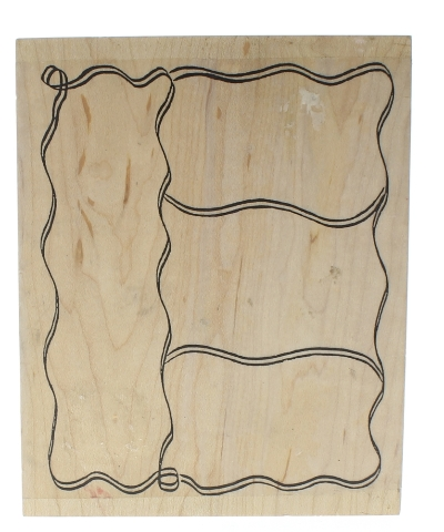 Abby Doodles Squiggle Block Frame Wooden Rubber Stamp