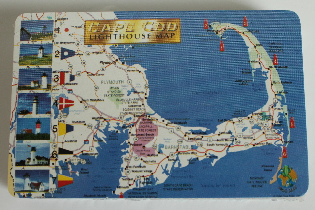 Cape Cod Lighthouse Map New Sealed Deck of Playing Cards
