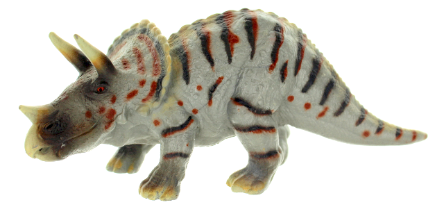 Schleich Animal 2002 Collectible Triceratops Jurassic Dinosaur with 3 Horns