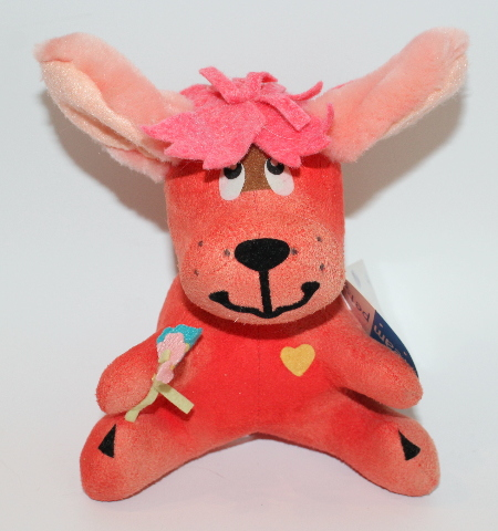 New Dream Pets Reissue by Dakin #11 Rufus Pink Puppy Dog with Flowers