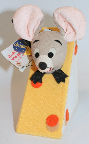 New Dream Pets Reissue by Dakin Roquefort Mouse with His Cheese #19