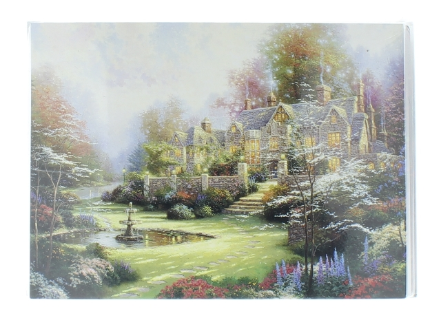 Thomas Kinkade Sealed Pack of Blank Note Cards 4 designs Mansion House
