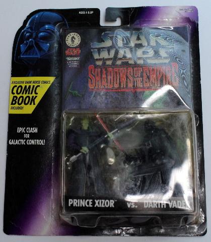 Star Wars Kenner Shadows of the Empire Prince Xizor vs Darth Vadar Comic Book