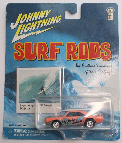 Johnny Lightning Surf Rods Oahu Wahoos Mint Card Series