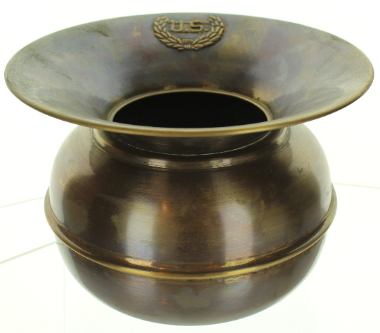 Spitoon Solid Brass with Antiqued Patina US Tag