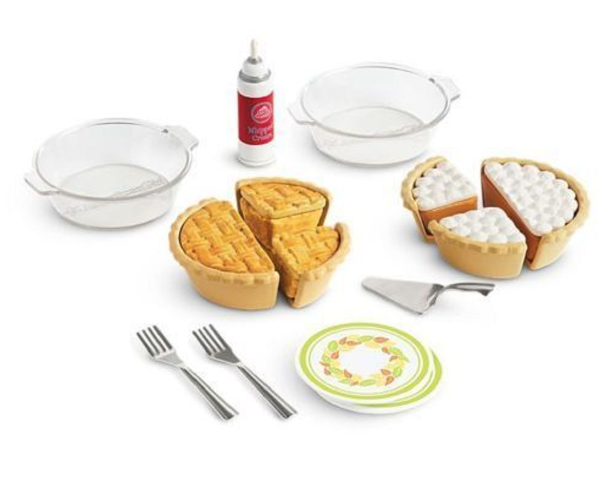 "American Girl AG Truly Me Pie Baking Set for 18"" Dolls Plates Pans Utensils"