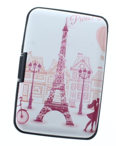 Paris inspired Expandable Multi Card Organizer Credit Card Wallet Gift