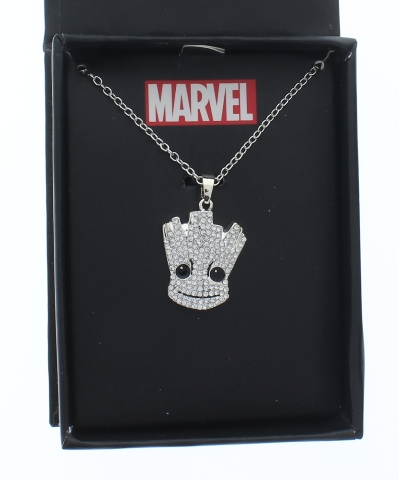 Inox Stainless Steel Marvel Pendant Chain Necklace Groot Guardian of the Galaxy