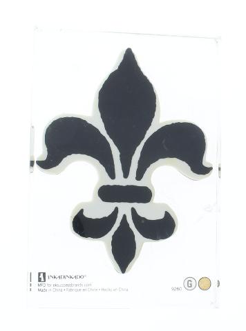 Inkadinkado Fleur Di Lis Card Making Acrylic  Block Rubber Stamp