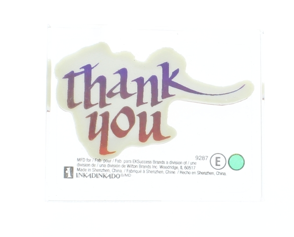 Inkadinkado Thank You Words Writing Card Making Acrylic Rubber Stamp