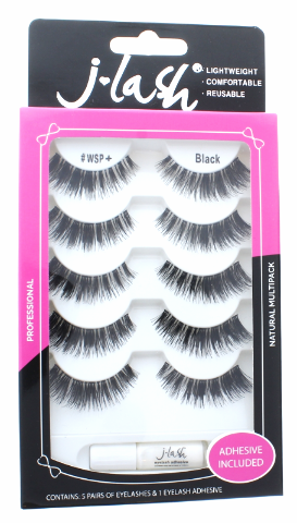 Lot of 5 Cruelty Free Reusable Eyelash and Glue Natural Full J Lash JLash JWSPS+