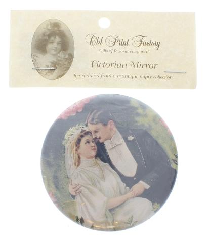 """Wedding Favor Bride and Groom Purse 3"""" Mirror Bridal Brides Made Gift"""