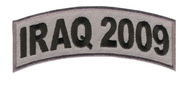 Iraq 2009 Military Biker Rider Motorcycle Uniform Patch