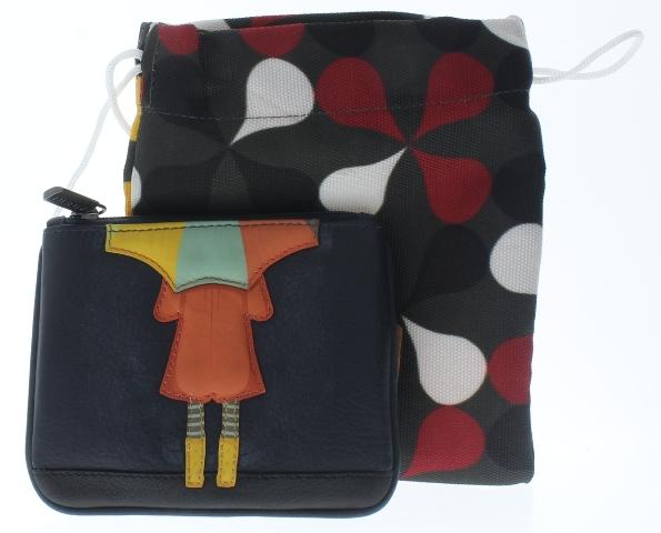 Yoshi harness england umbrella girl leather zip applique coin