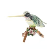 Ciel Jeweled Humming Bird on a Branch Trinket Box with Rhinestone Bling
