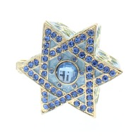 Jeweled Star of David Ciel Collectible Trinket Box Austrian Crystals