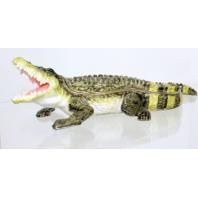 Ciel Jeweled XL Alligator Crocodile Collectible Trinket Box Austrian Crystals