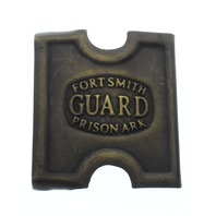 Anson Mills Belt Buckle Fort FT Smith Guard Prison Ark Solid Brass Reenactments