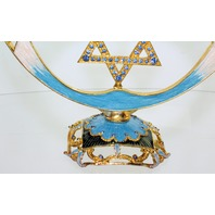 Jeweled Star of David Ciel Collectible Menorah Austrian Crystals