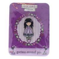 Santoro London Gorjuss Enamel Sugar and Spice Hat Lapel Pin New on Original Card