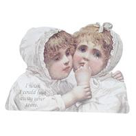 Old Print Factory Victorian Embossed Magnetic Verse Card Hug Away Your Tears