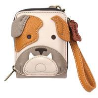 Charming Chala Puppy Dog Bull Dog Purse Wallet Credit Cards RFID Wrist