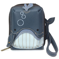 Charming Chala Blue Ocean Whale Purse Wallet Credit Cards RFID Wristlet