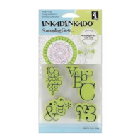 Inkadinkado Stamping Gear Typographic Letters Numbers Cling Rubber Stamp