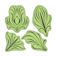 Inkadinkado Spiraling Feather leaves Plumes Cling Rubber Stamp