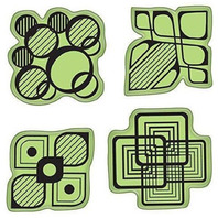Inkadinkado Modern Shapes and Patterns Images Set Cling Rubber Stamp