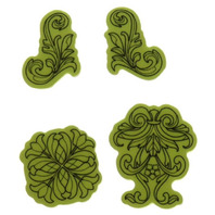 Inkadinkado Stamping Gear Classic Ornaments Tulip Vines Cling Rubber Stamp
