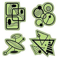 Inkadinkado Mod Fun Shapes and Patterns Images Set Cling Rubber Stamp
