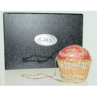 Ciel Jeweled Austrian Crystal Clutch Purse Handbag Luxury Evening Bag Cupcake