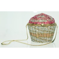 Ciel Jeweled Austrian Crystal Clutch Purse Handbag Luxury Evening Bag Cupcake