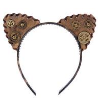 Steampunk Gothic Headband Hairband Cat Ear Halloween Costume Party Cosplay