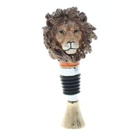 Ciel Jeweled Wine Bottle Stopper Collectible Trinket Box Stand Majestic Lion