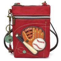 Charming Chala Venture Cell Phone Purse Crossbody Bag Baseball Super Fan Sports