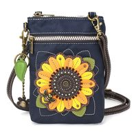 Charming Chala Venture Cell Phone Purse Crossbody Bag Sunflower with Bumble Bee