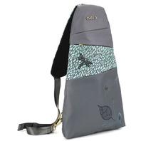 Chala Purse Handbag Grey Escape Sling Backpack Dragonfly Design