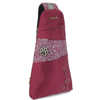 Chala Purse Handbag Burgundy Escape Sling Backpack Paw Print Design