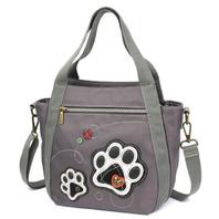 Chala Purse Handbag Companion Organizer X Body Crossbody Paw Print Design