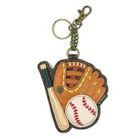 Chala Baseball Super Fan Sports Whimsical Key Chain Coin Purse Bag Fob Charm