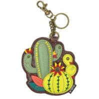 Chala Cactus Whimsical Key Chain Coin Purse Bag Fob Charm