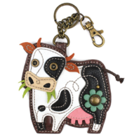 Chala Moo Cow Whimsical Key Chain Coin Purse Bag Fob Charm