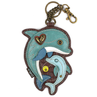 Chala Dolphin Whimsical Key Chain Coin Purse Bag Fob Charm