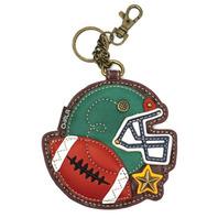 Chala Fantastic Football Sports Whimsical Key Chain Coin Purse Bag Fob Charm
